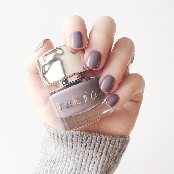 Forgive the pun but Birchbox member @ashleytia nailed it with her grey on grey manicure/sweater combo. She's wearing @smithandcult's opaque glossy grey nail polish in Stockholm Syndrome. Tap link in bio to shop @smithandcult on birchbox.com.
