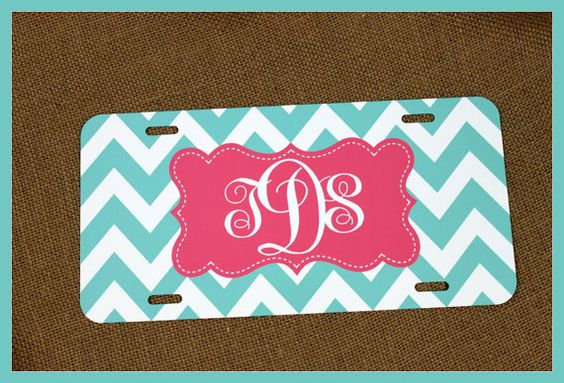 License Plate Monogrammed Gifts Monogram Car by ChicMonogram, $25.00