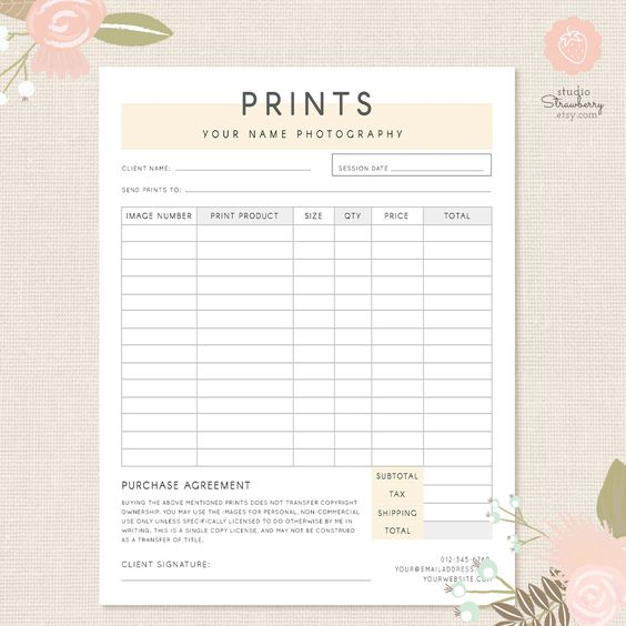 Photography Forms and Contracts #photography #photographer #forms - model of invoice