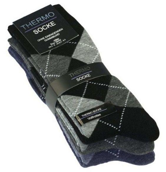 Thermo Socken Karo 3er Pack !