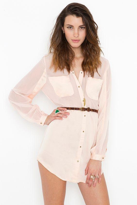 Blushing Shirtdress...I'd wear this more as a tunic length top than a dress.