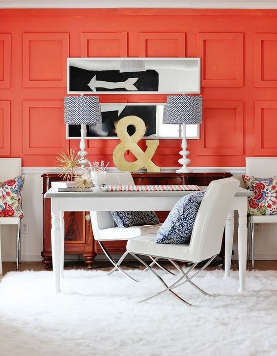 Definitely this coral paneled office that will turn you into a workaholic: | 12…