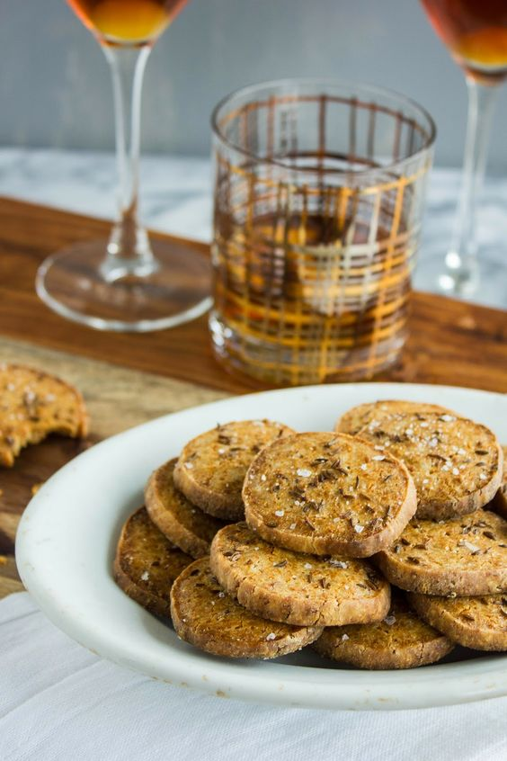 Cheese and Caraway Crackers