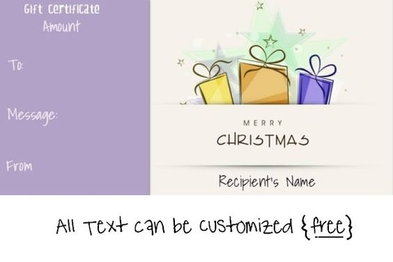 gift certificate maker online