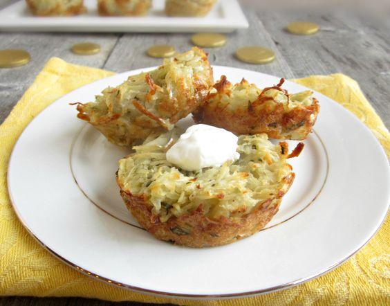 Potato Pancakes (Latkes) baked in muffin tins