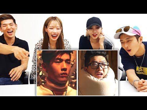 K Pop Idols React To Lankybox K Pop With Zero Budget Kard Youtube Kpop Idol Kard Idol