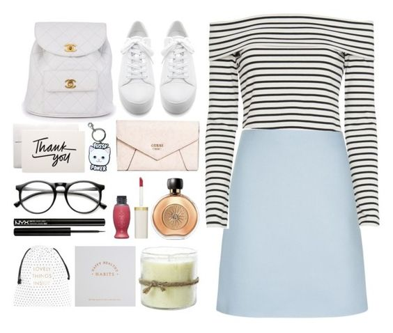 """""""4.104"""" by katrina-yeow ❤ liked on Polyvore featuring DKNY, 10 Crosby Derek Lam, Chanel, GUESS, Guerlain, ZeroUV, Himalayan Trading Post and NYX"""