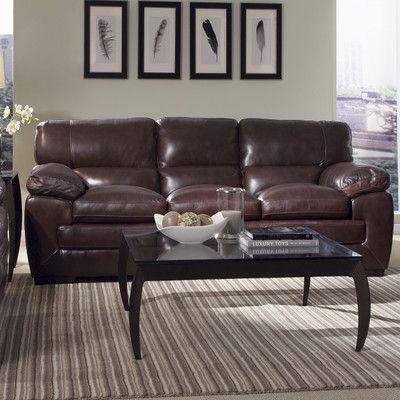 Simon Li Biscayne Leather Sofa Upholstery: