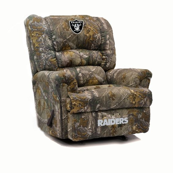 "Oakland Raiders Big Daddy"" Realtree Camo Recliner"