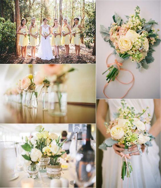 Top 10 Wedding Colors For Spring 2014--pale yellow