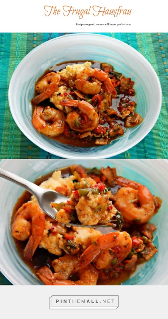 Shrimp & Grits with a Cajun Gastrique | Frugal Hausfrau. Not your Mama's or your Pappa's, this are a Spicy kicked up Shrimp and Grits and all that flavor is magnified by a sweet/spicy cajun gastrique.