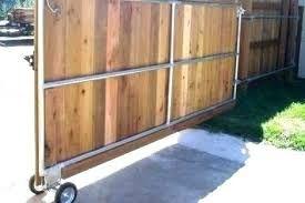 Rolling Wood Fence Gate Wood Fence Design Wood Fence Gates