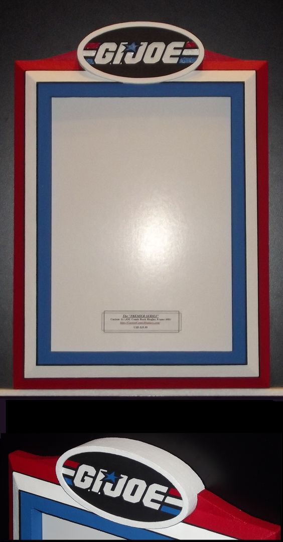 customer commissioned custom premier series gijoe comic book display frame