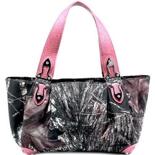 Mossy Oak® Tote Style Camo Bag with Metal Hardware