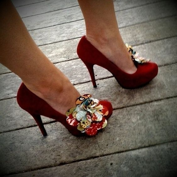 colorful flower shoe clip