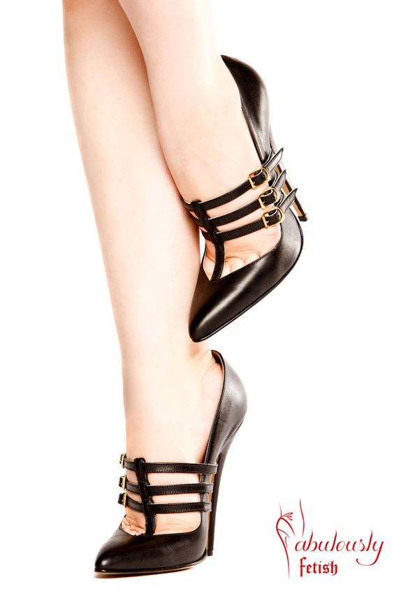 Such a high arch<3 Fabulously Fetish Raven 6 inch heel court shoe by FabulouslyFetish, £190.00