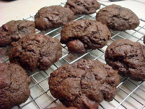 Double Chocolate Chip Cookies: Chocolate Yo, Chocolate Chips, Recipes Desserts, Cookies Cookies, Double Chocolate Chip Cookies, Desserts Sweets, Chocolate Nuf, Sweet Chips, Chip Cookiesh