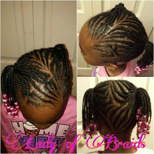 Groovy Little Girls Braids Hairstyle Protective Style Cornrows Children Short Hairstyles For Black Women Fulllsitofus