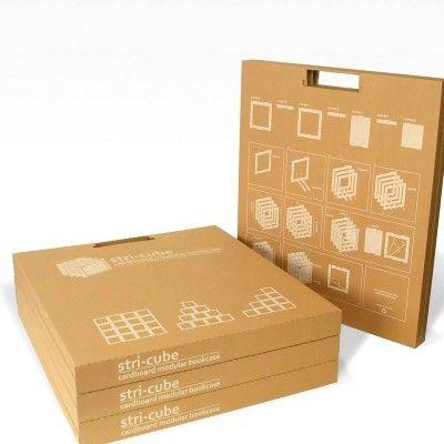 Kit meuble en carton facile construire module stricube - Construire des meubles en carton ...