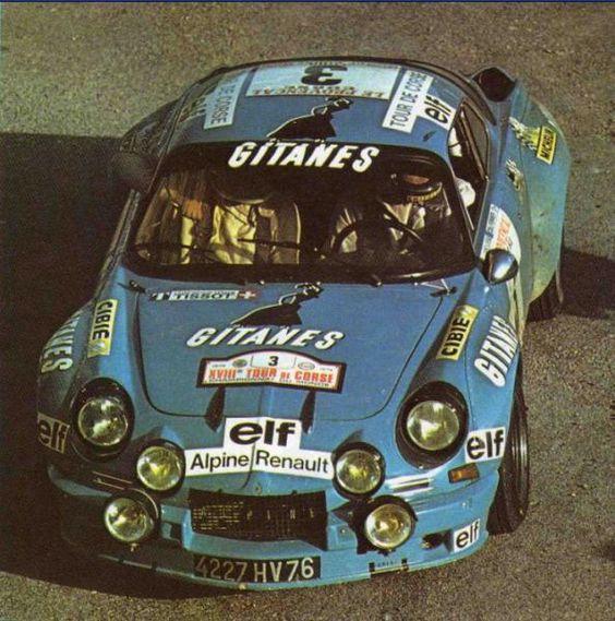 Tour de Corse 1974 - Larrousse Gérard - Delferrier Christian icon Alpine-Renault A110 1800