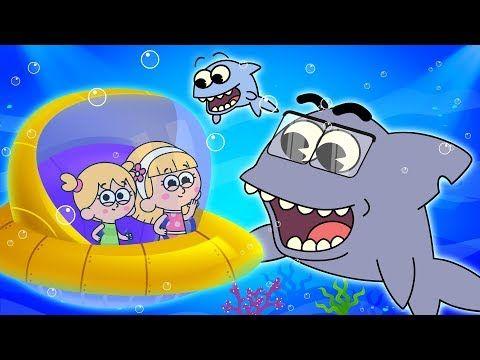 Baby Shark Song With Family Of Sharks Fun Finger Family Nursery