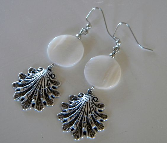Sea Shells by the Sea Shore Dangle Earrings by 1989michelle, $8.95