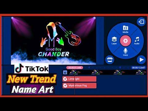 Tiktok New Trend Name Art Video Tutorial Name Art Viral Videos New Trends