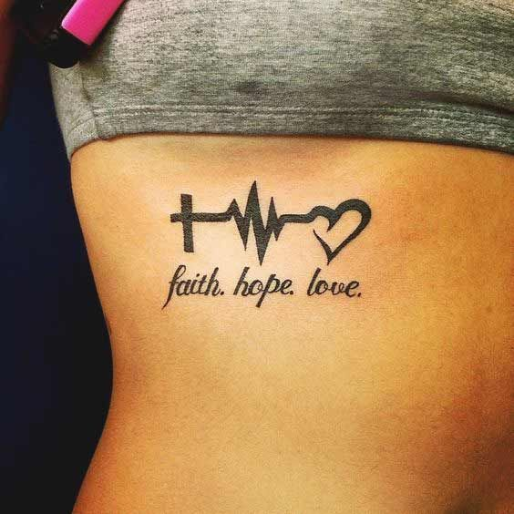 Faith Hope Love Tattoos 45 Perfectly Cute Tattoos With Best Placement Tattoos For Daughters Tattoos Tattoos For Women