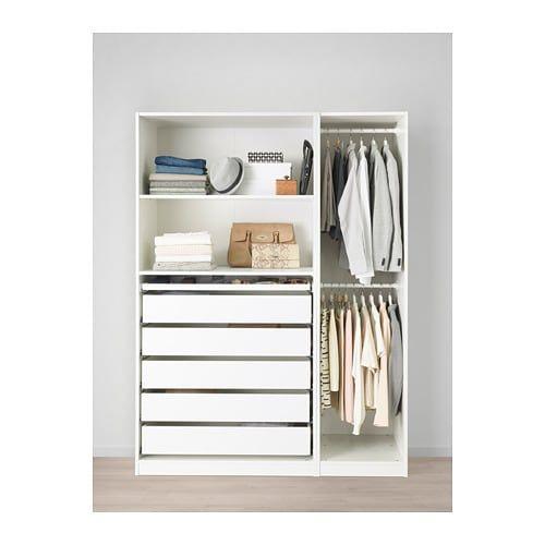 Wardrobe White 59x22 7 8x79 1 4 Ikea Penderie Pax Armoire