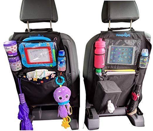 Kids Kick Mats Backseat Organizer By Parents Mark 2 Pack Waterproof Universal Fit Car Protector Storage Kicking Mat With Tis Fit Car Kick Mat Tablet Holder