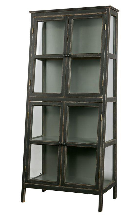 Vitrine Schrank Herritage Vintage Holz Glas Mit Bildern Vitrinenschrank Vitrine Holzvitrinen