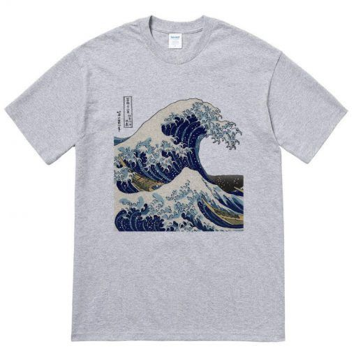 Big Waves Japan T Shirt In 2020 Shirts T Shirt Print Clothes