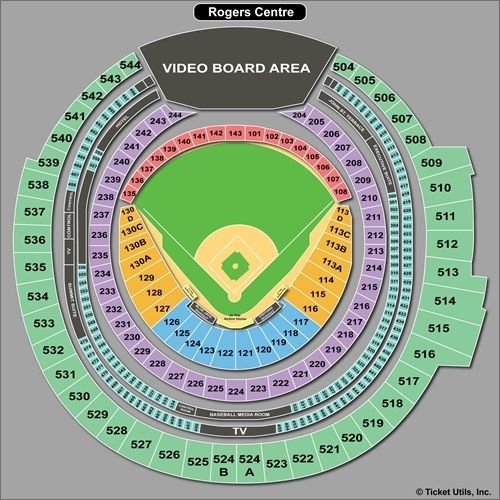 Rogers Centre Toronto Blue Jays Seating Chart Rogers Centre - Blue jays seating chart