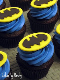 Exciting chocolate flavoured batman bithday party cupcakes for kids and teens-the dark knight rises.