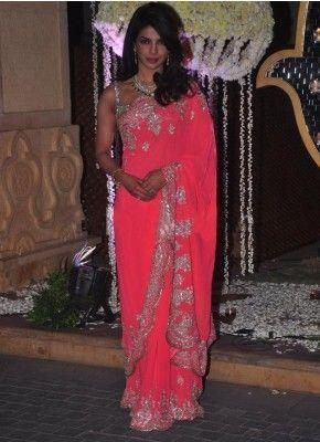 LIGHT PINK GEORGETTE EMBROIDERY WORK DESIGNER SAREE #Designer #Saree  #anarkali #SalwarSuits #Kurtis #Gown #LehengaCholi #jewellery   #UttamVastra  #EthnicWear #price #onlineshopping #indianwear #buyonline #instagram #fashionjewellery #trendydress #Silk #Embroidery