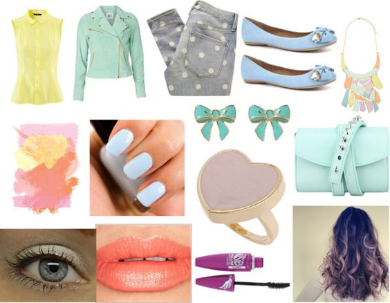 """Pastel Pretty"" by btrlover99 ❤ liked on Polyvore"