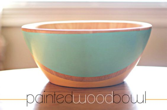 painted wood bowl.