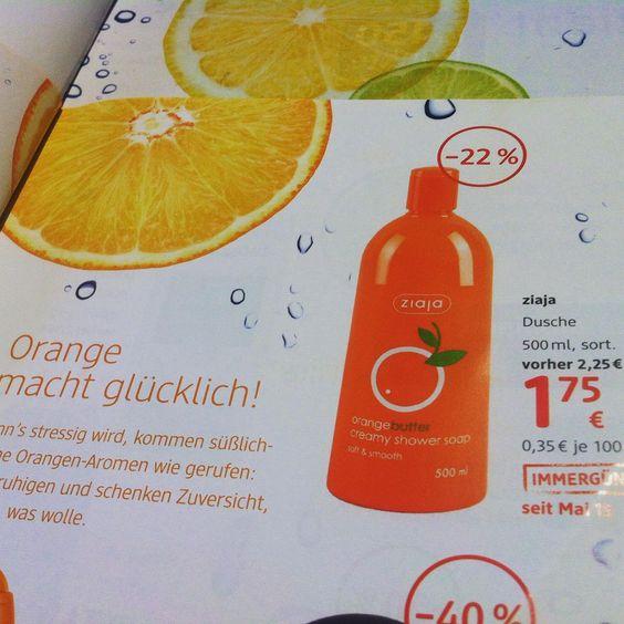 Orange macht glücklich!!! :) jihaaa, jetzt ausprobieren und den fruchtig-frischen duft vom ziaja orangenbutter duschgel genießen! Jetzt zum dauertiefpreis beim #dm_drogeriemarkt in Österreich um nur € 1,75 für 500ml!!! Wooow, wie cool ist das denn? :D #summer #ziaja #nice #beauty #focusonskin #austrianblogger #beautyblogger