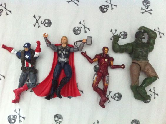 The Avengers doing the tree pose