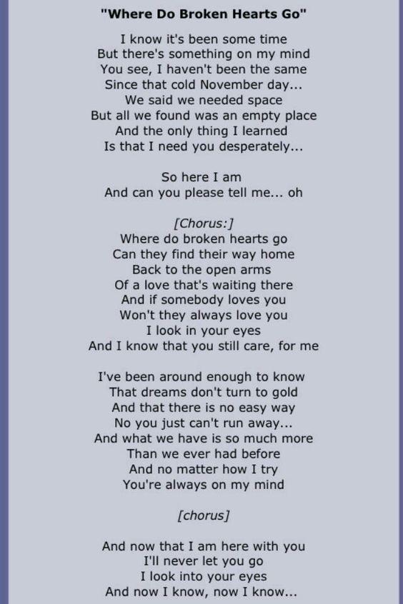 Who can i run to when i need love lyrics