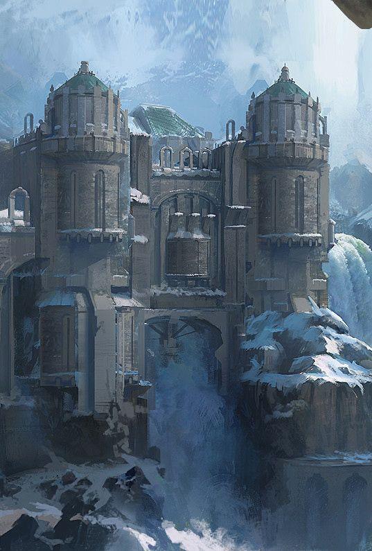 Fantasyartwatch ice castle by mu yu jiang fantasy for Mountain designs garden city