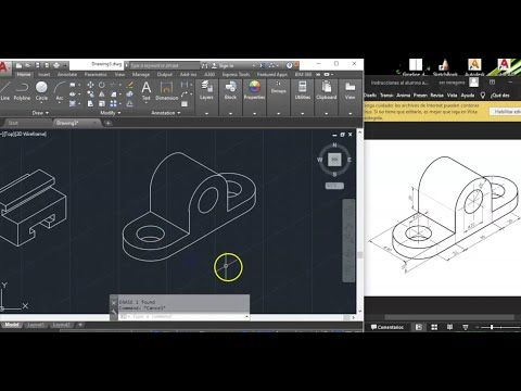 Autocad Dibujo En Isométrica Youtube Autocad Computacion Informática