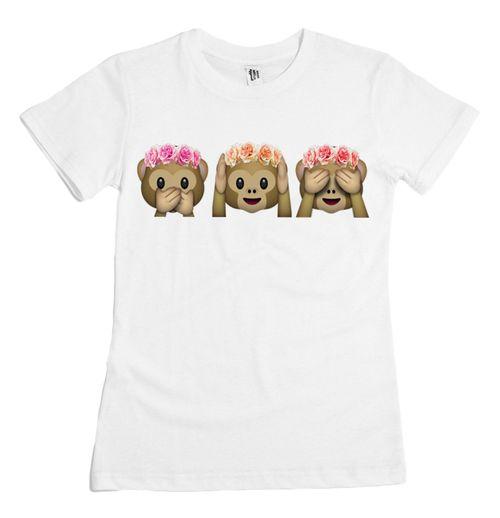 livraison gratuite 2015 date summer fashion style t shirt femme qq emoji singe imprim mignon. Black Bedroom Furniture Sets. Home Design Ideas