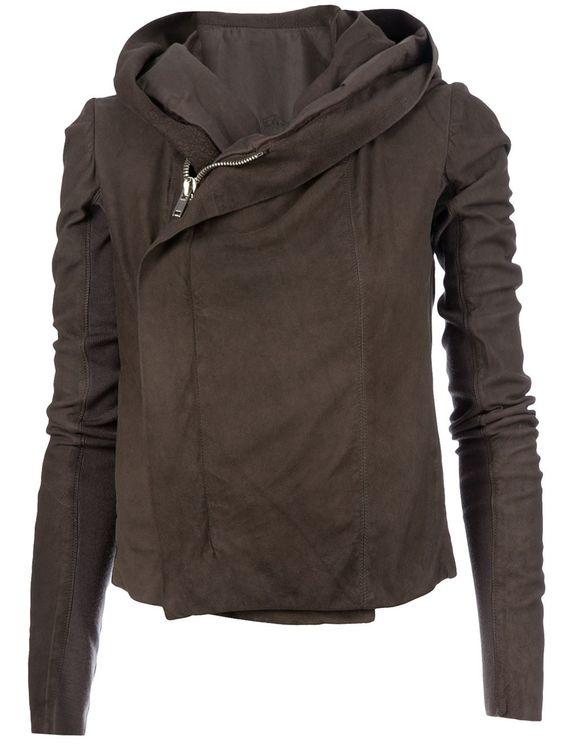Rick Owens Hooded Leatehr Jacket - - Farfetch.com
