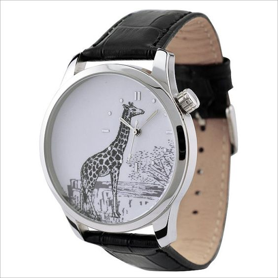 Giraffe Watch   47 Intensely Delightful Pieces Of AnimalJewelry Someone should get me this.