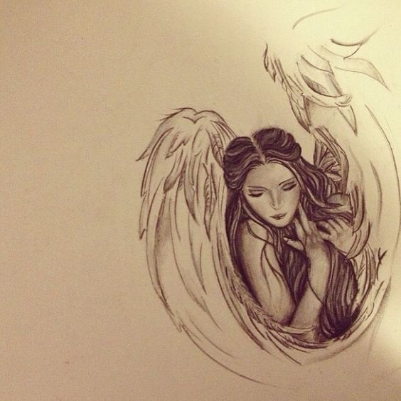Angel drawing, Griffins and Angel on Pinterest