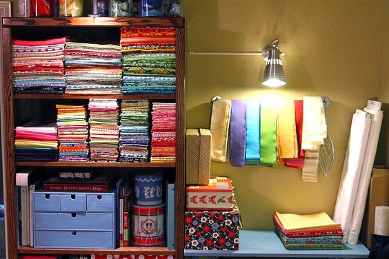 colorful clothes. Creative Space Update :: Finished by LULUBLOOM :: lucia, via Flickr