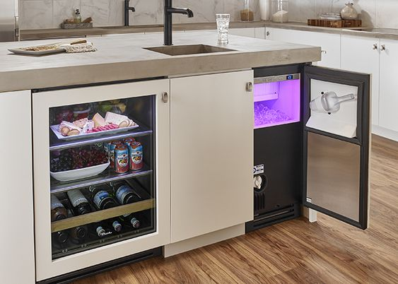 Mini Bar Set Up With Ice Maker Kitchen Clear Ice Machine