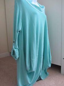 lightweight-sweatshirt-Lagenlook-Quirky-Italian-top-onesize-spearmint