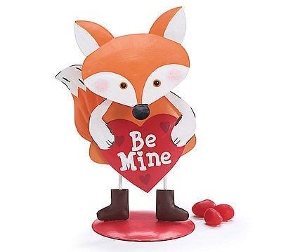 Be Mine Decorative Tin Fox Figurine